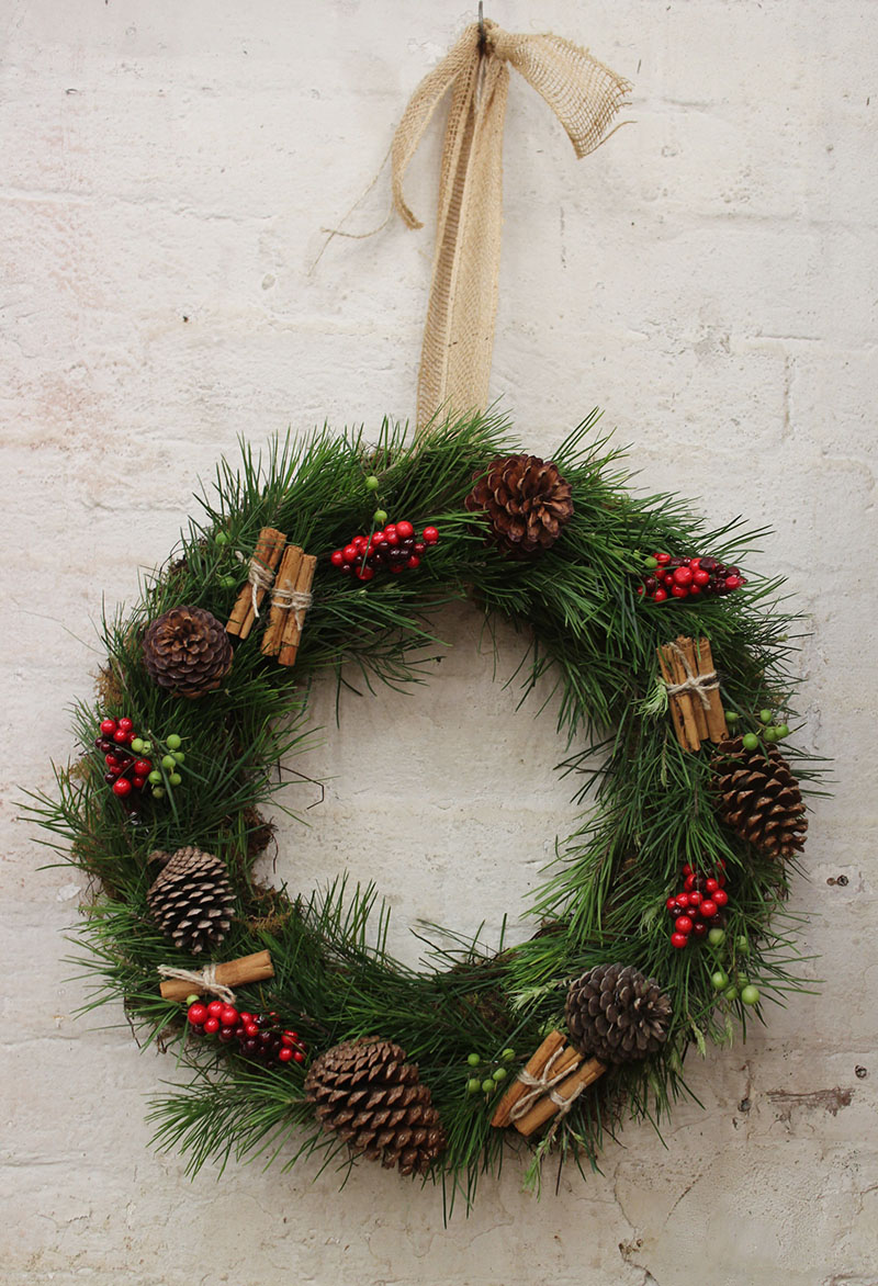 A fresh and natural christmas wreath my darling flowers